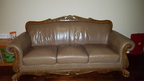 3 seat leather couch in Orland Park, Illinois