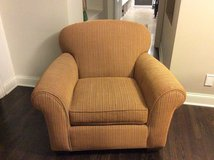 Crate and Barrel  Super Comfy Striped Club Chair in Naperville, Illinois