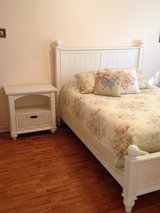 Queen Bed frame and night stand in Beaufort, South Carolina