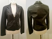 Black Genuine Leather Jacket (lightly lined, Originally  $150.00) in Bolling AFB, DC