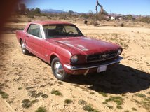 """1964 6-cyclinder, 3-speed manual, Ford Mustang """"Barn Find"""" in 29 Palms, California"""