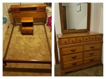 Antique full-size bedroom furniture in Baytown, Texas