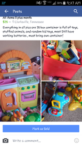 Children toys birth-2 years girl in Clarksville, Tennessee