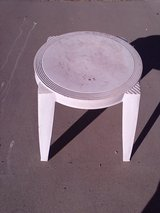 Small outdoor table in Alamogordo, New Mexico