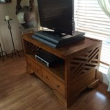 TV Stand Real Solid Wood, 4 drawers in Honolulu, Hawaii