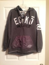 Grey Fleece Lined Ecko Zip Hoodie in Fort Riley, Kansas
