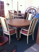 Solid Oak Kitchen Table and Chairs in Fort Polk, Louisiana