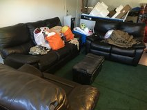 Recliner Leather Couch set in Temecula, California