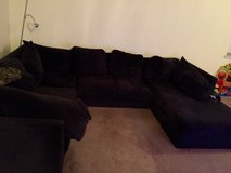 Black couch in Temecula, California