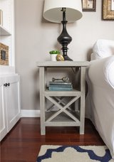 Wood X frame end table night stand in Camp Lejeune, North Carolina