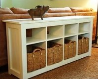 Wood sofa table entryway console in Camp Lejeune, North Carolina