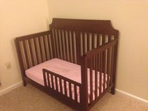 Crib with toddler rail conversion in Moody AFB, Georgia
