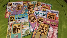 New Highlights states puzzle books and maps in Camp Lejeune, North Carolina