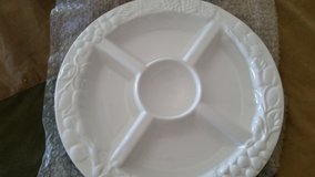 "SIMPLICITY Divided White Porcelain Platter 14"" in Alamogordo, New Mexico"