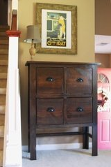 Wood console entryway table in Camp Lejeune, North Carolina