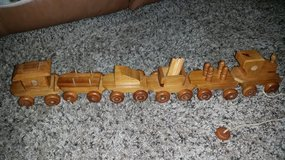 Amish 13 Piece Oak Wood Train Set in Clarksville, Tennessee
