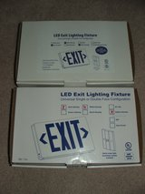 Maxlight LED exit signs Red + Green NEW in Plainfield, Illinois
