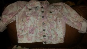 New / Pink / Floral Jean Jacket in Fort Campbell, Kentucky