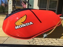 Honda XR400 fuel tank in Fort Benning, Georgia