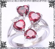 New - Garnet Hearts Ring - Size 8 in Alamogordo, New Mexico