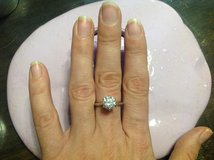 Tiffany & Co. Sterling silver ring size 9 2ct Sona diamond promise ring BEAUTUFUL in Naperville, Illinois