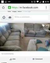 Recliner couch and love loveseat in Hinesville, Georgia
