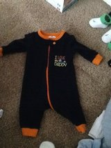 5 baby pjs 0-3 month in Fort Riley, Kansas