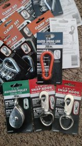 Awning Pulley, Snap hooks, Clamp Sets Coated Spring Link in Chicago, Illinois