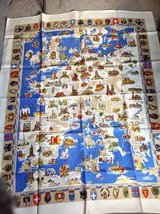Map of Europe tablecloth, Linen in Bolingbrook, Illinois