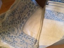 Vintage Blue & White rectangle tablecloth w/napkins in Beaufort, South Carolina