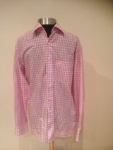 Pink Check Olymp Luxor Shirt in Ramstein, Germany