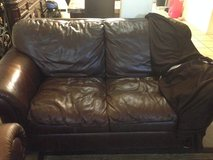 Leather couch and love seat in Fort Bliss, Texas