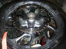 18 inch front crome wheel and tire in Fort Polk, Louisiana