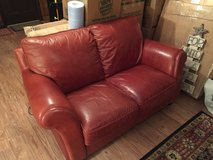 Great leather couch and 2-seater for your Texas Longhorns Man Cave in Conroe, Texas