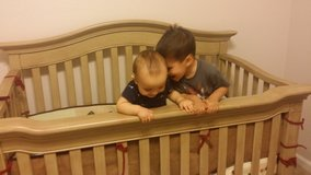 Convertible driftwood baby crib in Fort Bliss, Texas