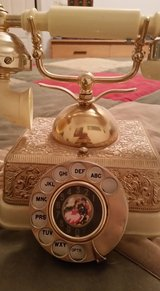 Old Rare Antique French Rotary Brass Vintage Cradle Telephone in Alamogordo, New Mexico