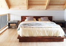 Wood platform bed king queen full twin floating in Camp Lejeune, North Carolina