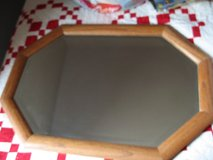 Octagonal Oak framed mirror **Reduced** in Fort Leonard Wood, Missouri