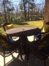 Wicker Patio Set with 4 Chairs - Used one Summer! in Houston, Texas
