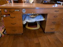 Large sturdy handmade desk from Canada - 9 drawers! Must see! in Fort Lewis, Washington