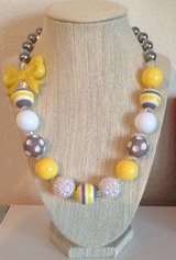 Yellow/Gray gumball necklace in Vista, California