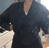 Women's Black leather jacket with zip-out thinsulate lining in Yucca Valley, California
