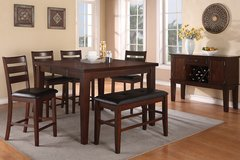 6PC COUNTER HEIGHT DINING SET ON SALE FREE DELIVERY in Huntington Beach, California