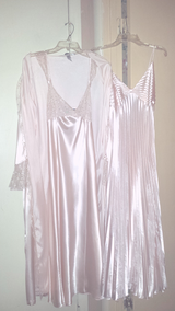 """""""Delicates""""  3pc Light Pink Champagne Satin Robe & Night Gown Set in Fort Bragg, North Carolina"""