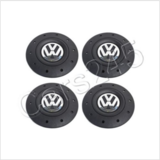 (NIB) VW Genuine Steel Wheel Center Hub Black Chrome Caps 4pcs VW Amarok 2010-2013, T5 2003-2013 in Ramstein, Germany