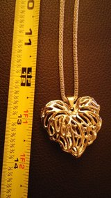Silver Hallow Heart w/Crystals inside. NEW in Fairfield, California