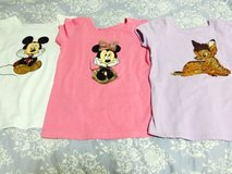Disney T-shirt set of 3 (Micky Mouse, Minnie Mouse, and Bambi) in Okinawa, Japan