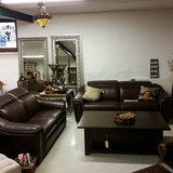 Set leather couch with electric recliners in Ramstein, Germany