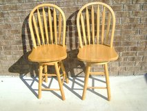 Solid wood bar stools(pair) in Hinesville, Georgia