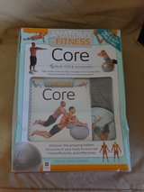 Core Fitness Ball, Book and DVD. New in Box in Kankakee, Illinois